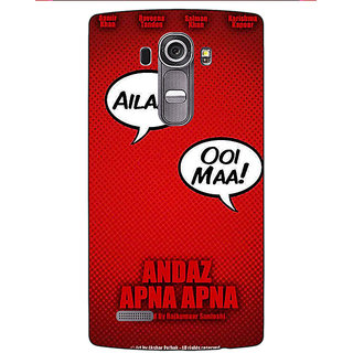 Enhance Your Phone Bollywood Superstar Andaz Apna Apna Back Cover Case For LG G4