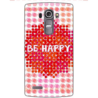 Enhance Your Phone Quotes Happy Back Cover Case For LG G4