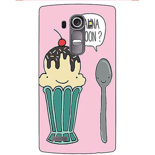 Enhance Your Phone Quotes IceCream Back Cover Case For LG G4