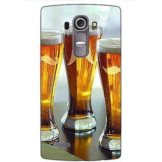 Enhance Your Phone Beer Glasses Back Cover Case For LG G4