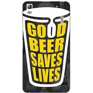 Enhance Your Phone Beer Quote Back Cover Case For Lenovo K3 Note
