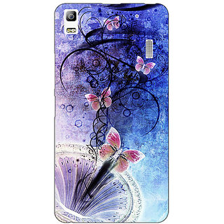 Enhance Your Phone Abstract Butter Fly Pattern Back Cover Case For Lenovo K3 Note