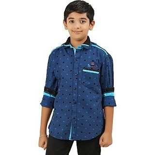 Cub Kids Boys Printed Casual Shirt
