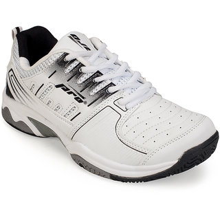 Khadims Pro Mens White Running Sneakers