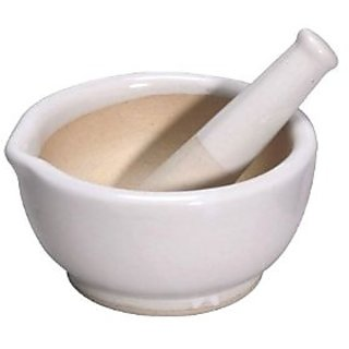 Porcelain Mortar  Pestle Set-2.5 Inches