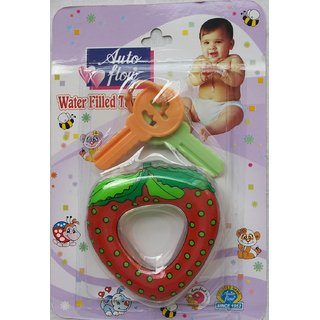 Auto Flow Water Filled Toy Teether - Strawberry - BT19