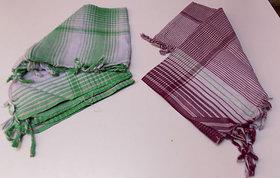 Fine Cotton Checked Design Couple of Bath Towels