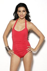 Nidhi Munim Classic Red Rouched swimsuit