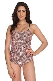 Nidhi Munim Ikat  Print tube Swimsuit