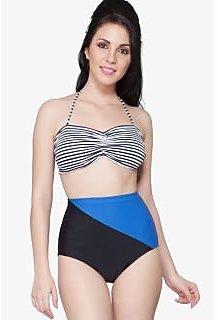 Nidhi Munim Stripied pop bikini set