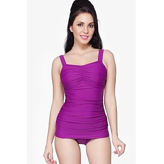 Nidhi Munim Purple rouched swimdress