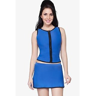 Nidhi Munim 3 pc Sporty zipper tankini set