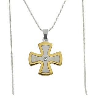 Diovanni Protestant Pendant Gold Plated Pendant