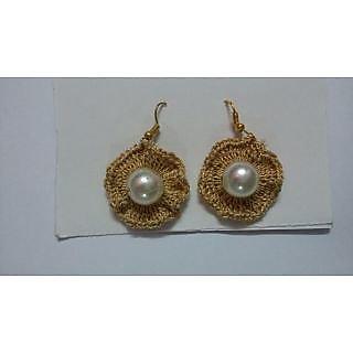 Beautiful Crochet Golden Earring