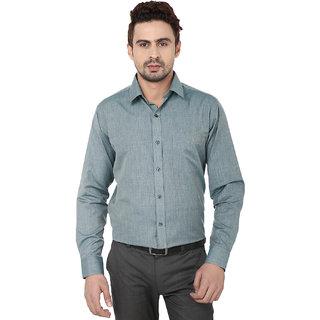 Hankcock Cotton Green Men Full Sleeves Formal Shirts (1089green)