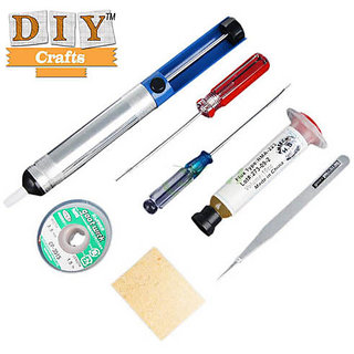 DIY Crafts New 7 in 1 Electronic Welding-Soldering Iron Kit Tool Set Solder Wick