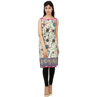 Kyaara Cotton Multicolor Sleeveless Printed Kurti