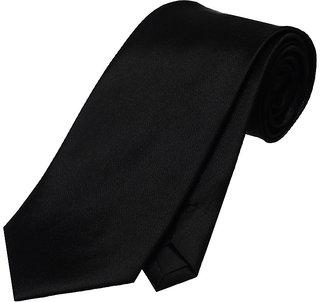 Wholesome Deal Black Microfiber Narrow Tie