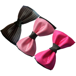 Wholesome Deal multi coloured neck bow tie (Pack of Tree)
