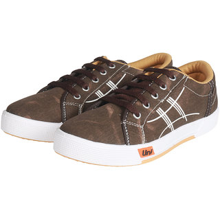 a8814bf2cbf0 Buy Unistar Canvas Shoes 5005-Brown Online - Get 14% Off