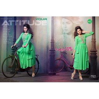 sp collections womens Georgette kurti light green xl