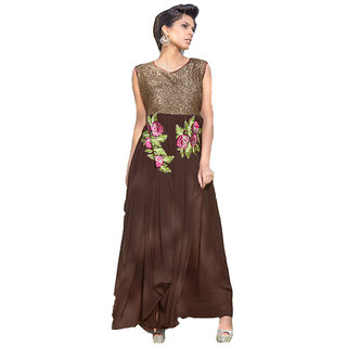 Graceful Brown Anarkali - 8371