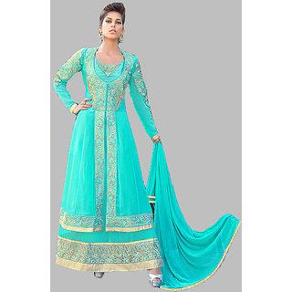 Alluring Sea Green Anarkali - 8374
