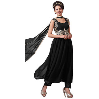 Exquisite Black Designer Embroidered Suits - 8410