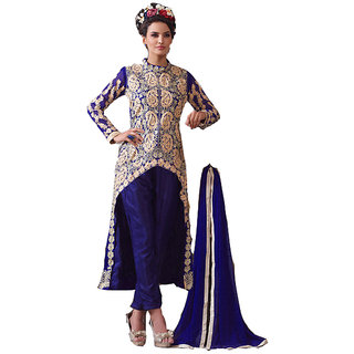Smart Blue Designer Embroidered Suits - 8415