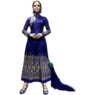 Resplendent Blue Designer Embroidered Suits - 8889