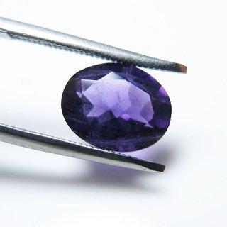 4.4 Ct 4.84 Ratti Oval Shape Beautiful Natural Amethyst (Katella) Loose Gemstone - AME05