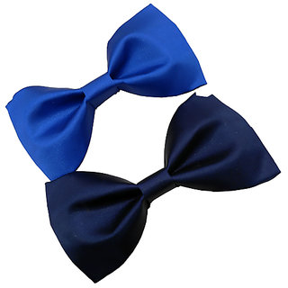 online retailer 31d22 fca65 Buy Wholesome Deal royal blue and navy blue neck bow tie (Pack of two)  Online - Get 54% Off