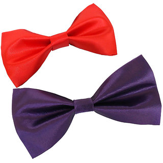 Wholesome Deal purple and red neck bow tie (Pack of two)