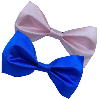 Wholesome Deal pink and royal blue neck bow tie (Pack of two)