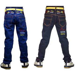 Tara Lifestyle Blue and Black Jeans Pants for Kids 2 pcs Boys jeans pant