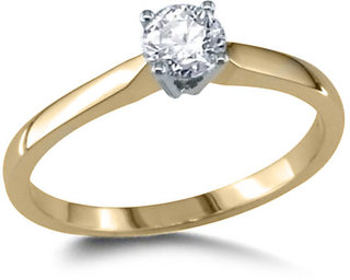 100  Certified Natural Diamond 14k Yellow Gold Solitaire Engagement Ring