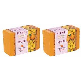 Khadi Mauri Lemon Soap - Pack of 2 - Premium Handcrafted Herbal