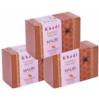 Khadi Mauri Lemon Soap - Pack of 3 - Premium Handcrafted Herbal