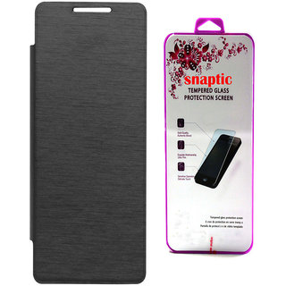 Snaptic Black Flip for Infocus M260 with Tempered Glass