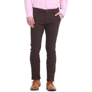 Virtue Men Brown Casual Slim Fit Trouser (VRT100STR-CT)