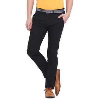 Virtue Men Black Casual Slim Fit Trouser (VRT97STR-CT)