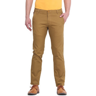 Virtue Men Khaki Casual Slim Fit Trouser (VRT105STR-CT)