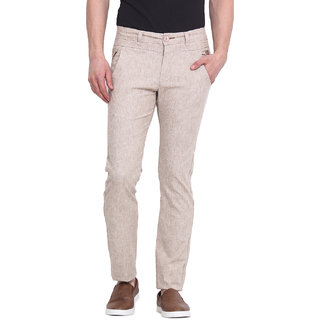 Virtue Men Beige Casual Slim Fit Trouser (VRT94STR-CT)