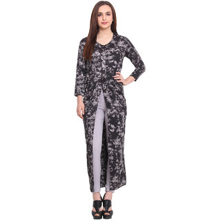 Blink Women Grey Crepe Casual Tunic (BLK00048)