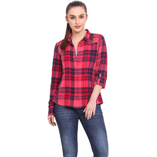 H.O.G. Women Multi Cotton Casual Shirt (UCI051-B)
