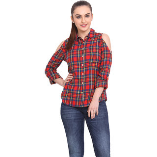H.O.G. Women Multi Cotton Casual Shirt (UCI044-A)