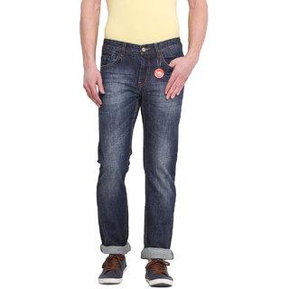 Virtue Men's Blue Slim Fit Jeans