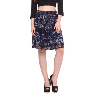 H.O.G. Women Multi Polyester Casual Skirt (UCI058)