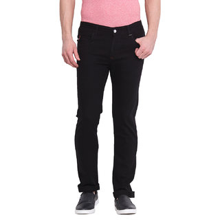 Virtue Men's Black Slim Fit Jeans