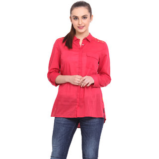 H.O.G. Women Pink Cotton Casual Shirt (UCI009-B)